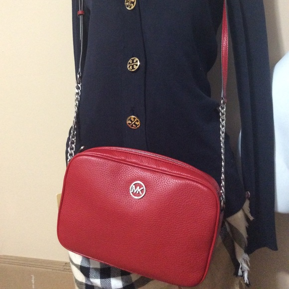 ab63cc21317c9d ... czech new crossbody authentic michael kors mk red 1a02a a208f